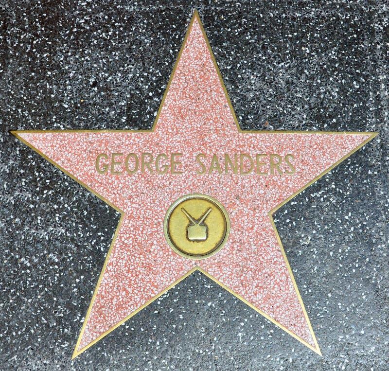 De Gang van Hollywood van Bekendheid - George Sanders stock fotografie