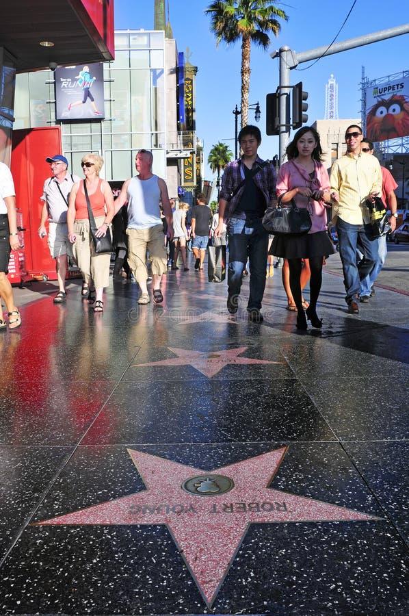 De Gang van Hollywood van Bekendheid in Hollywood royalty-vrije stock afbeelding