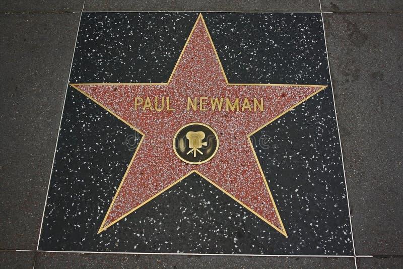 De Gang van Hollywood van Bekendheid - Paul Newman stock foto's