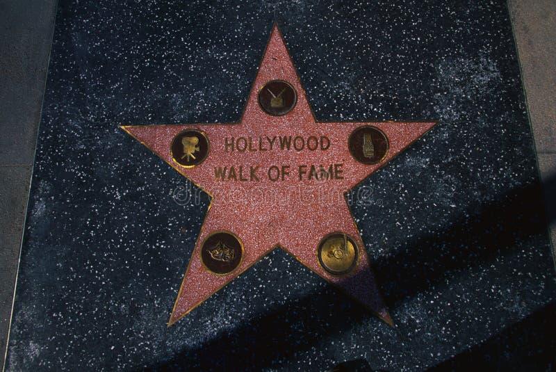 De Gang van Hollywood van het vierkant van de Bekendheid in Hollywood, CA stock fotografie