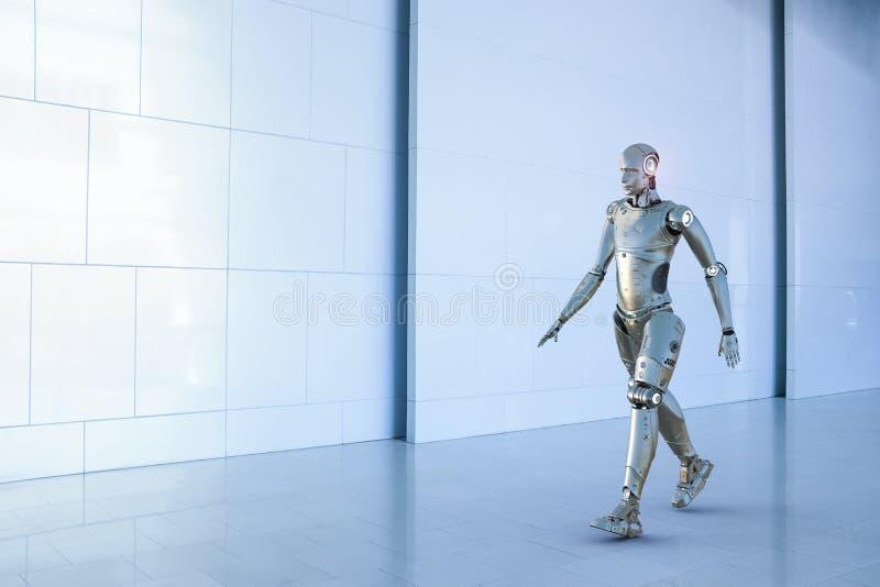 De gang van de Humanoidrobot stock illustratie