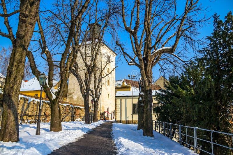 De gang van Strossmayer - Zagreb stock afbeelding