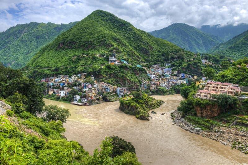 De Ganges royalty-vrije stock foto's