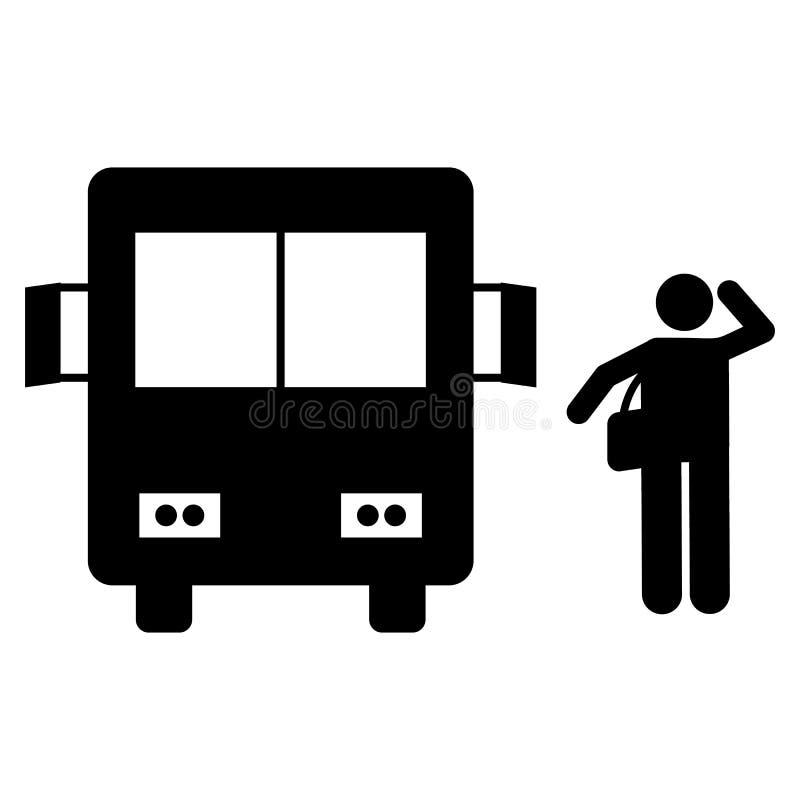 De gangpictogram van de busstudent Element van terug naar het pictogram van de schoolillustratie Tekens en het pictogram van de s vector illustratie