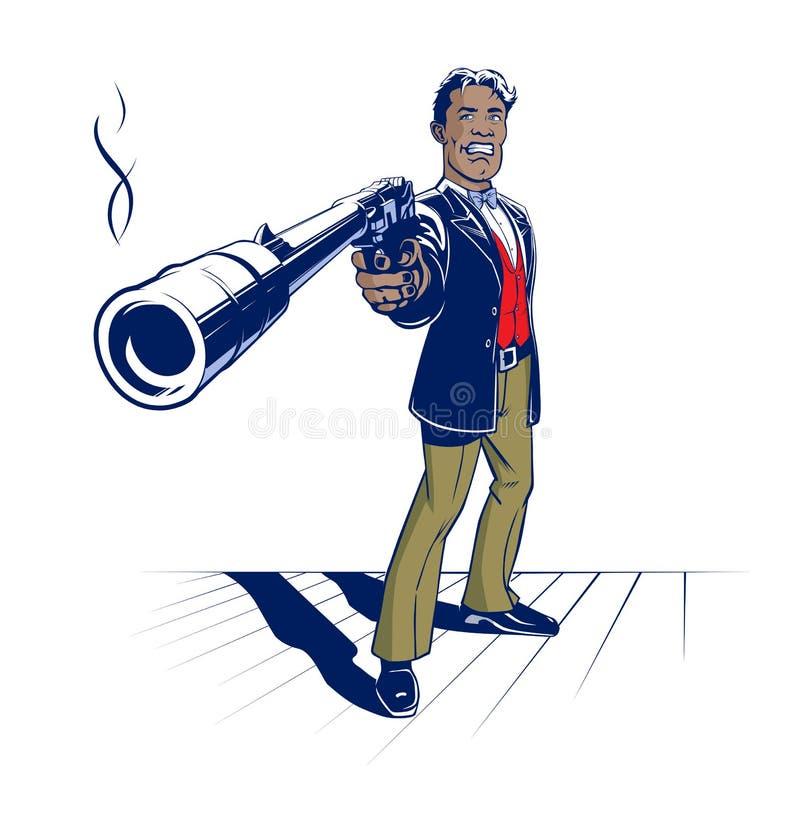 De gangster van het kanon stock illustratie