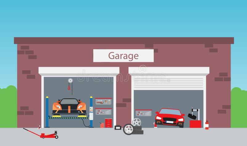 De garage van de de dienstwinkel vector illustratie