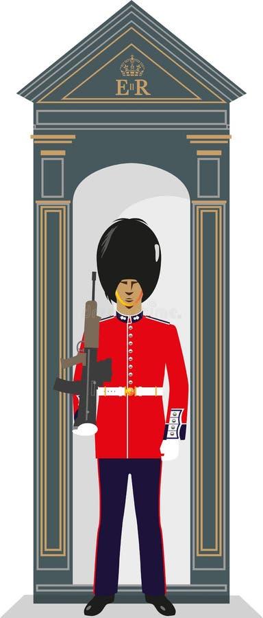 De Gardesoldaat van de schildwachtdoos royalty-vrije illustratie