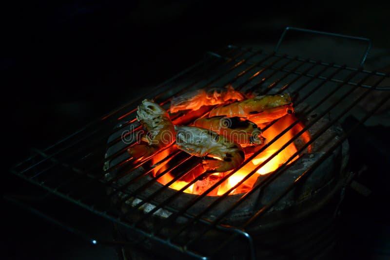 De garnalen van de barbecuerivier royalty-vrije stock fotografie