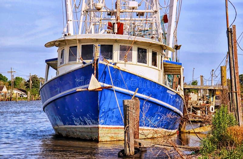 De Garnalenboot van Louisiane stock fotografie