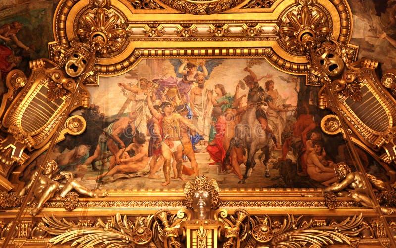 de garnier歌剧palais巴黎 免版税库存图片