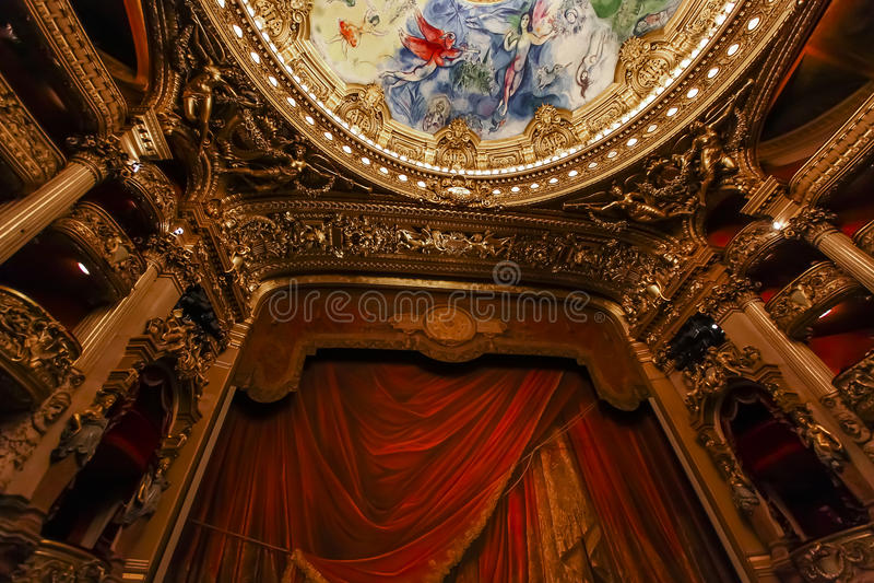 de garnier opery palais Paris Francja obraz royalty free