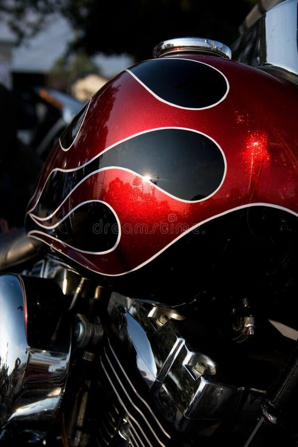 De Gashouder van de motorfiets stock afbeelding