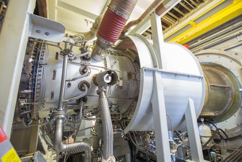 De gasturbinemotor is de voornaamste motor van het centrifugale gascompressietype van dit motortype, net als de vliegtuigmotor royalty-vrije stock afbeeldingen