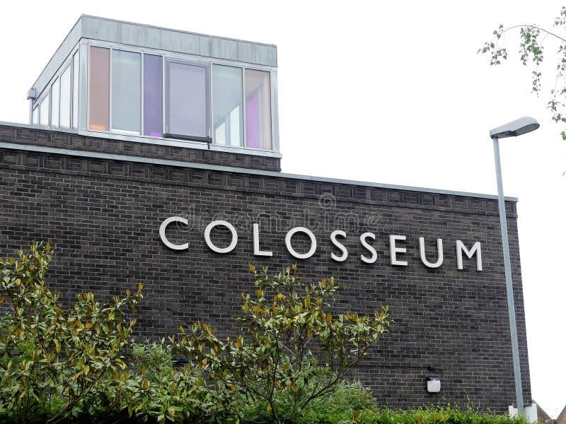 De gastvrijheid en het vermaaktrefpunt van Watfordcolosseum, Rickmansworth-Road, Watford stock afbeeldingen