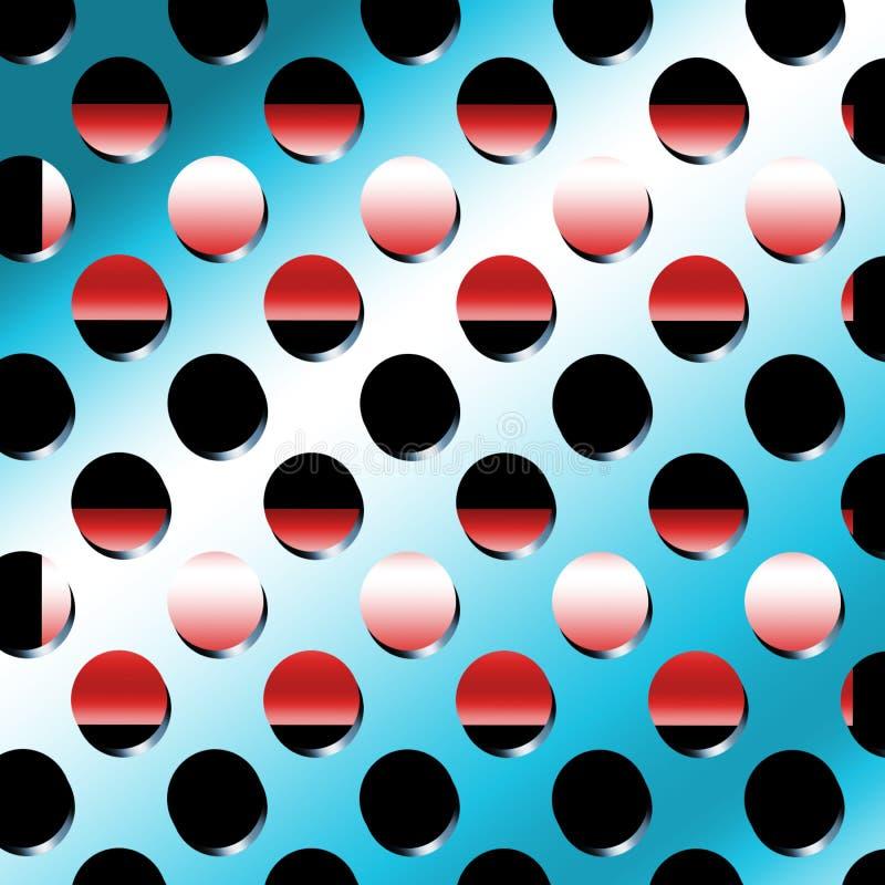 De Gaten van het metaal vector illustratie