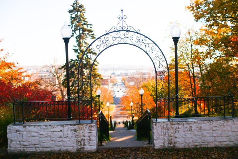 De gateway aan Davenport stock afbeelding
