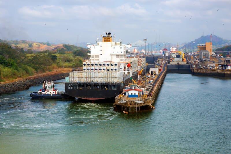 De gateway van het kanaal van Panama stock foto's