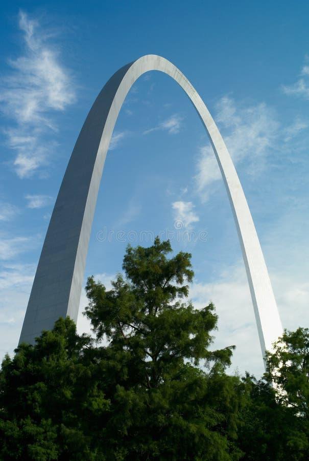 De Gatewayboog in Saint Louis, Missouri royalty-vrije stock foto's