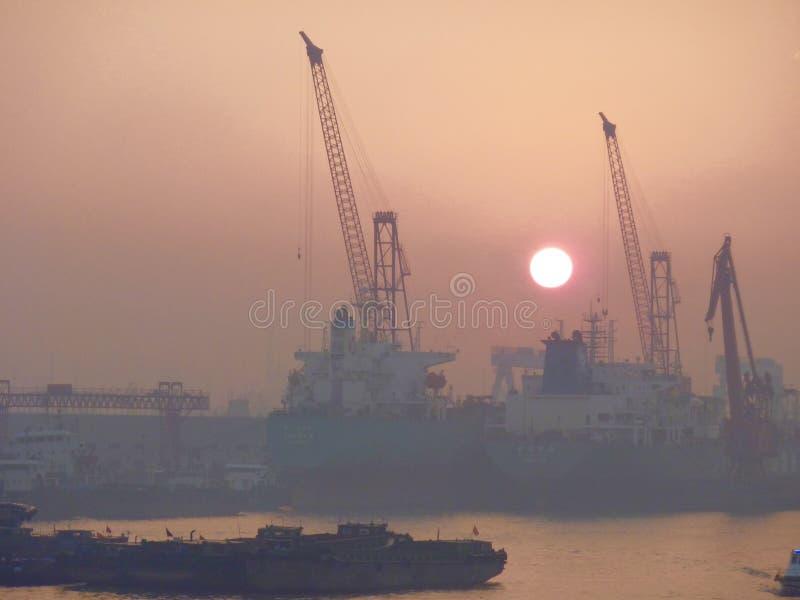 De gauche Changhaï photos libres de droits