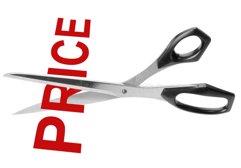 De geïsoleerdeàbesnoeiing van de prijs, stock foto