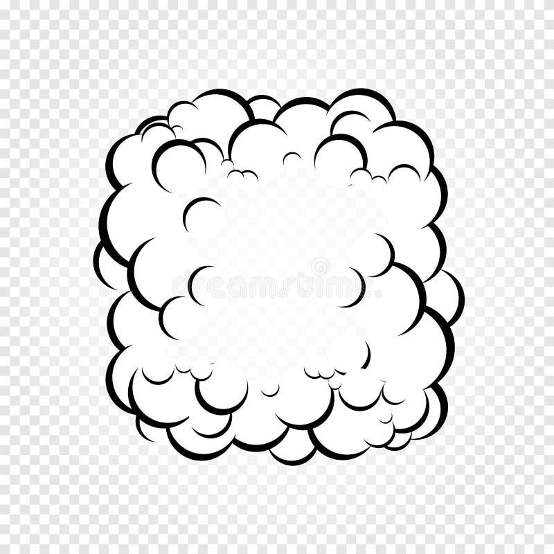 De geïsoleerde bellen van de beeldverhaaltoespraak, kaders van rook of stoom, de wolk van de strippaginadialoog, vectorillustrati royalty-vrije illustratie