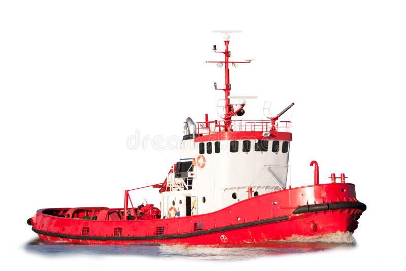 De geïsoleerde Boot van de Sleepboot royalty-vrije stock afbeeldingen