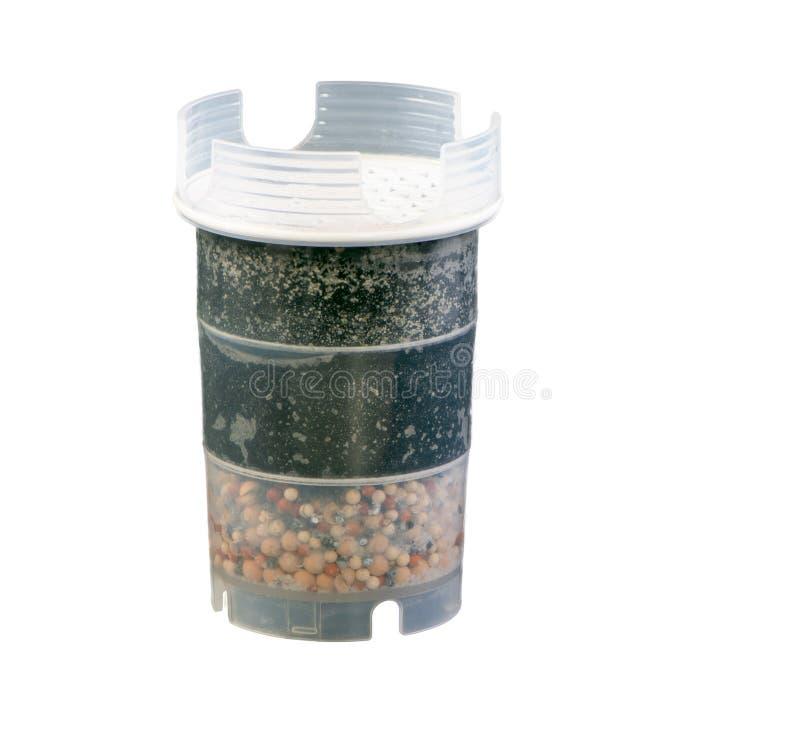 De geïsoleerde filter van de waterreiniging royalty-vrije stock afbeelding