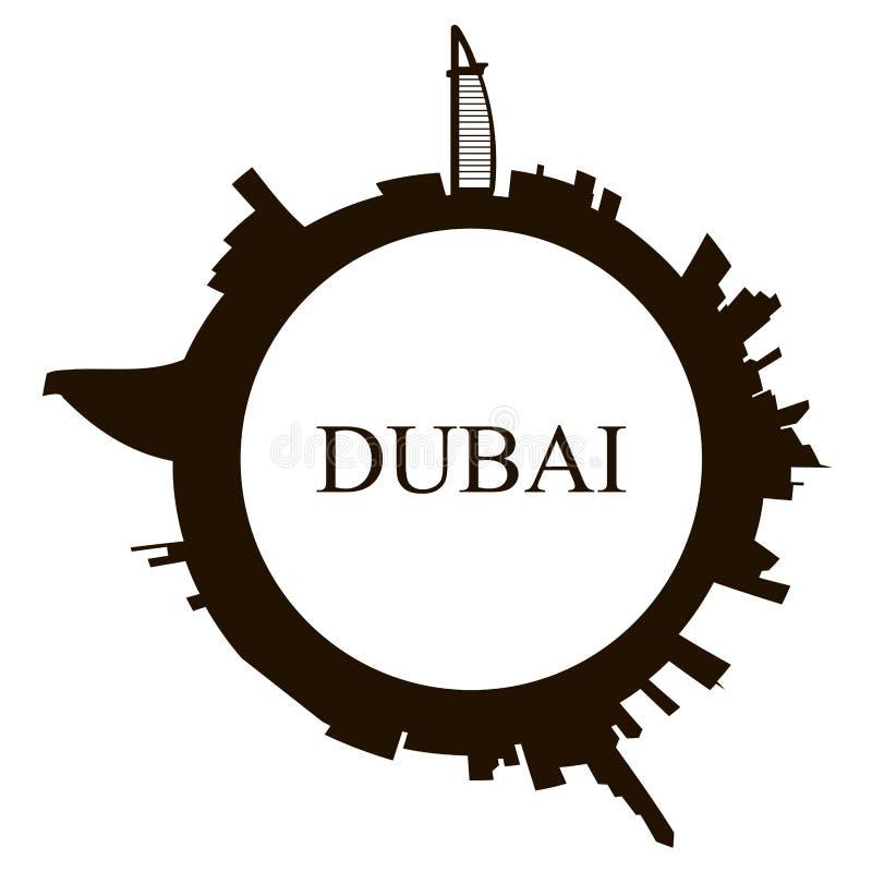 De geïsoleerde horizon van Doubai stock illustratie