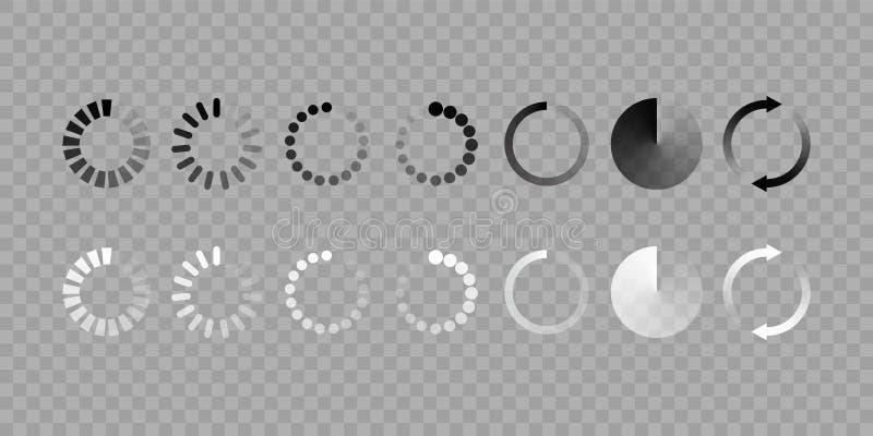 De geïsoleerde reeks van het ladingspictogram vector royalty-vrije illustratie