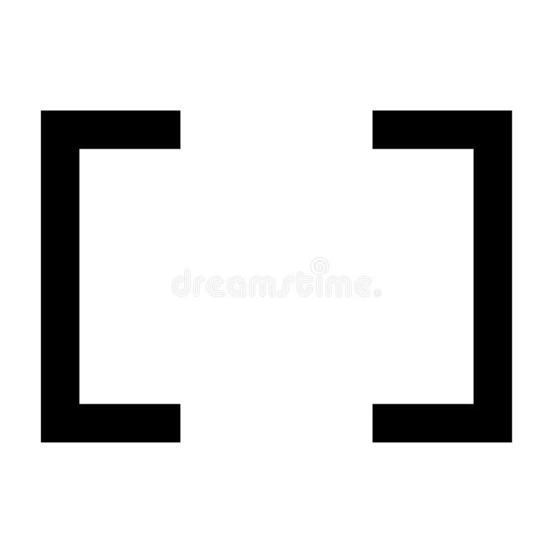 De geïsoleerde vector van het kaderpictogram zwarte stock illustratie
