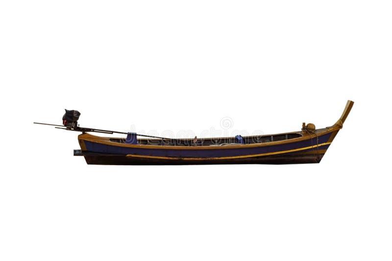 De geïsoleerde vissersboot, het Knippen weg royalty-vrije stock afbeelding