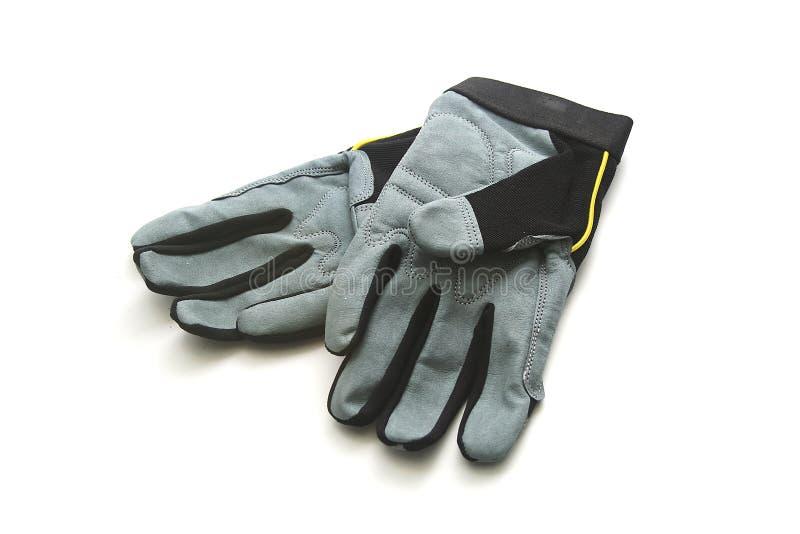 De geïsoleerdeg Handschoenen van het Werk stock afbeeldingen