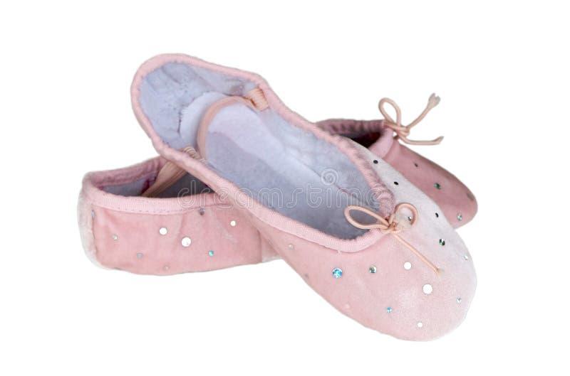 (De geïsoleerdeh) schoenen van het ballet stock fotografie