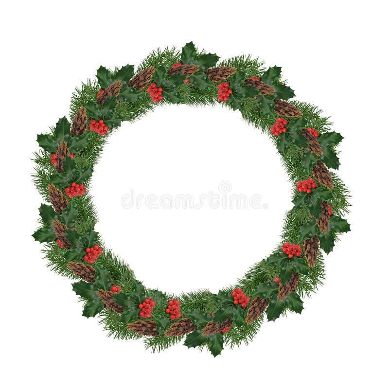 De geïsoleerdei Kroon van Kerstmis stock fotografie