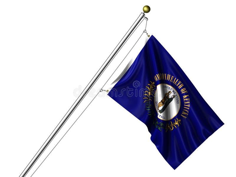 De geïsoleerdei Vlag van Kentucky stock illustratie