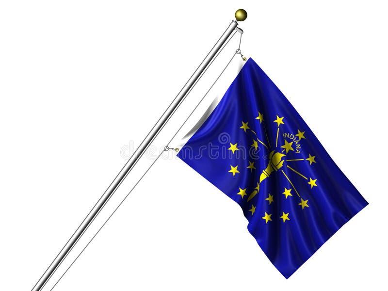 De geïsoleerdep Vlag van Indiana royalty-vrije illustratie