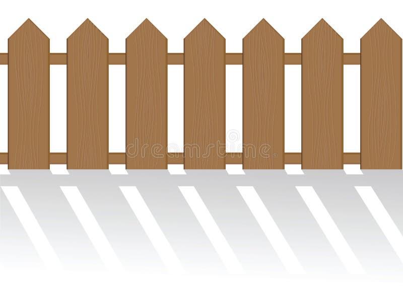 De geïsoleerder omheining vector illustratie