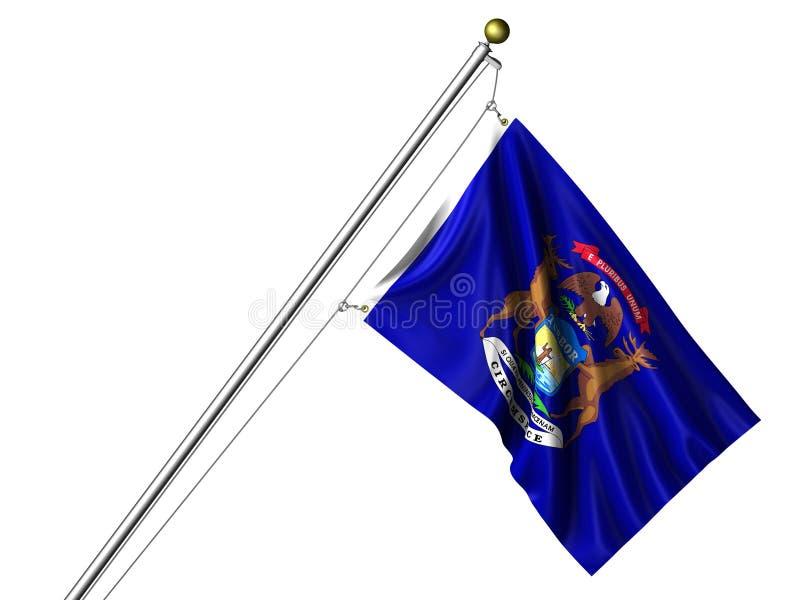 De geïsoleerdet Vlag van Michigan vector illustratie