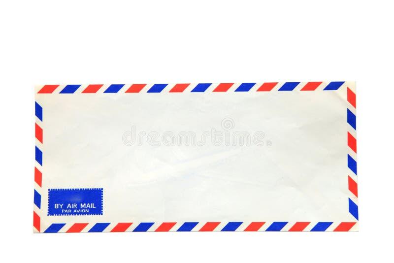 De geïsoleerdew envelop van de luchtpost royalty-vrije stock afbeelding