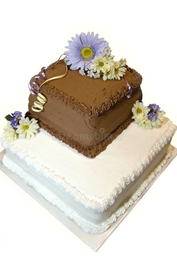 De gebakken Cake van het Huwelijk royalty-vrije stock afbeelding