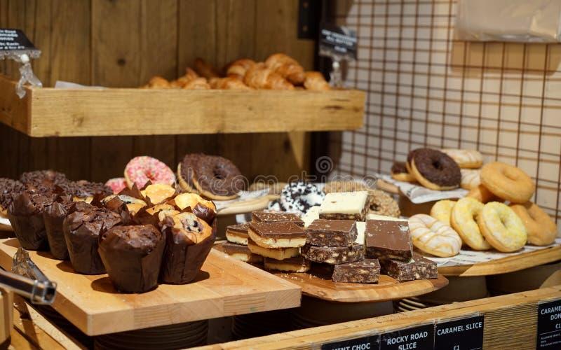 De gebakken goederen zijn altijd een traktatie stock afbeeldingen