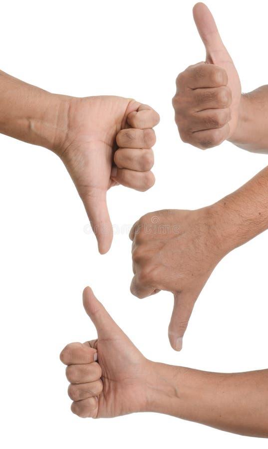 De gebaren van de hand royalty-vrije stock foto