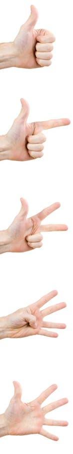 De gebaren van de hand stock fotografie