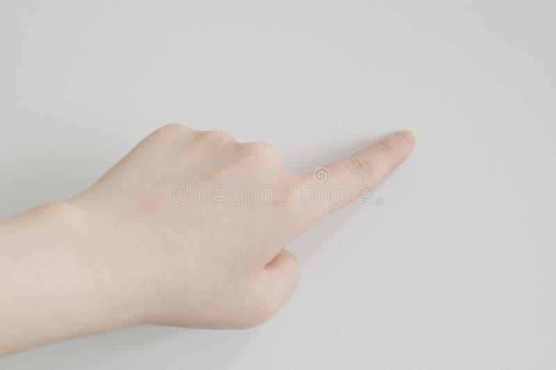De gebaren van de hand stock afbeelding