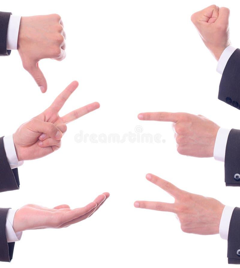 De gebaren van de verschillende hand royalty-vrije stock afbeelding