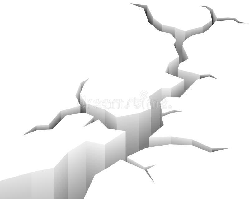 De gebarsten Achtergrond van de Vloer vector illustratie