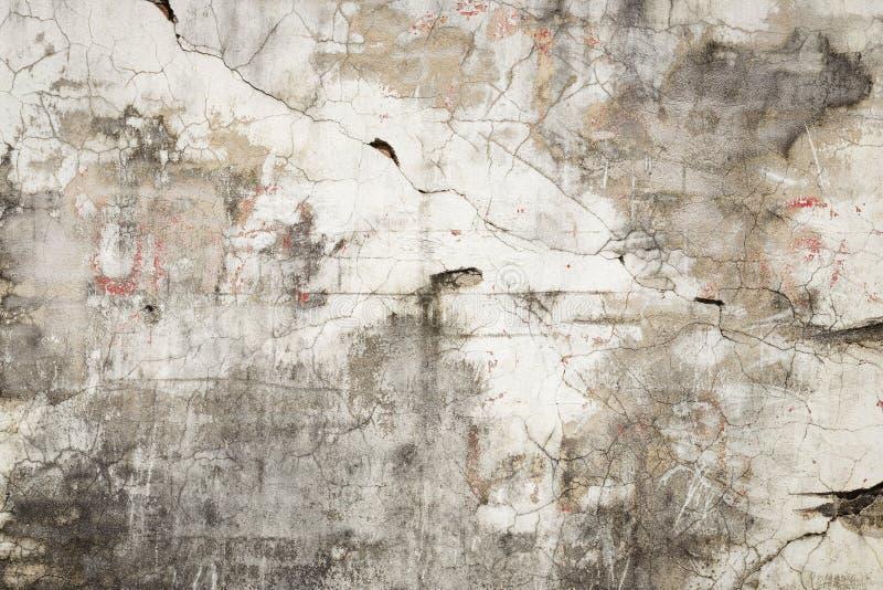 De gebarsten concrete achtergrond van de muurtextuur stock fotografie
