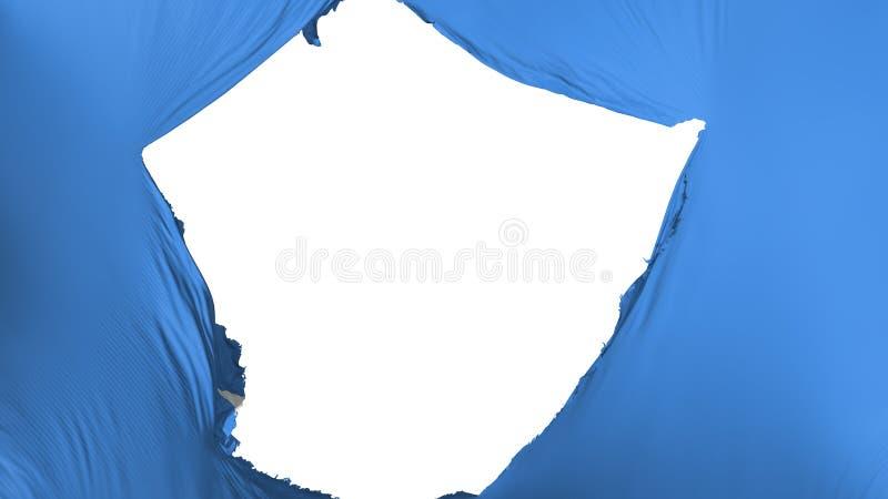 De gebarsten vlag van Somalië stock illustratie