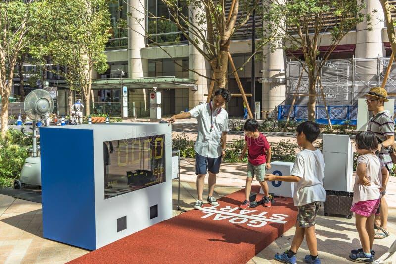 De gebeurtenis 'is de verandering Tokyo 2020 'georganiseerd op het thema van de toekomstige Olympische Spelen in Tokyo in 2020 royalty-vrije stock afbeelding