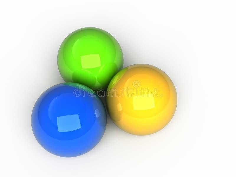 De gebieden van de kleur vector illustratie